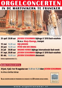 Poster 2018 Staand met verloop en foto met logo Org.Fris. Keuze orgelcom...